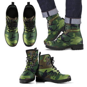 Men's Leather Boots - Camo