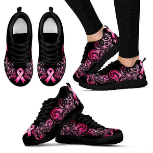 Breast Cancer Awareness Pink Ribbon Women's Sneakers - Island Pride Prints