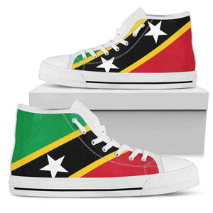 St.Kitts & Nevis Pride Men's High Top shoes Black Sole Edition - Island Pride Prints
