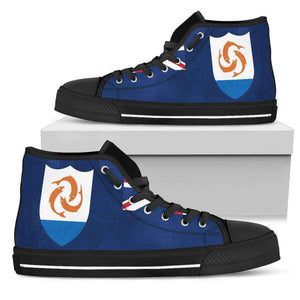 Anguilla Pride Men's High Top White Sole   Shoes - Island Pride Prints