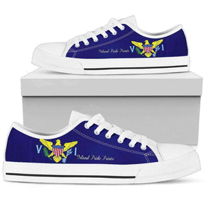 US Virgin Islands Men's Low Top Shoes White Sole Edition - Island Pride Prints