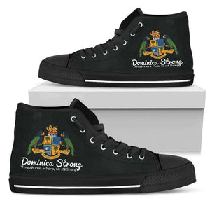 Dominica Strong Men's High Top Shoes B/B - Island Pride Prints