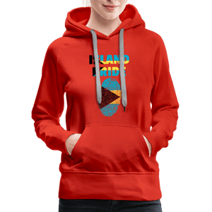 Pray For Bahamas Women's Premium Hoodie - red