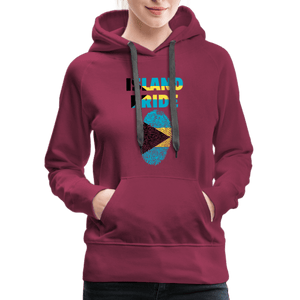 Pray For Bahamas Women's Premium Hoodie - burgundy