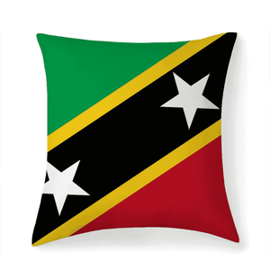 St.Kitts & Nevis Flag Multisized Premium Microfiber Fabric Throw Square Pillow Covers High Elastic Polypropylene Cotton Insert