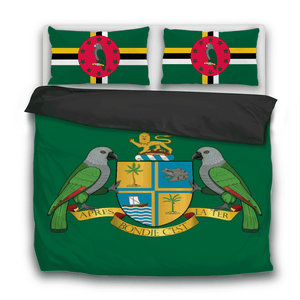 Dominica Pride 3 Pcs Bedding Sets - Island Pride Prints