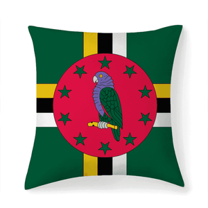 Dominica Flag Multisized Premium Microfiber Fabric Throw Square Pillow Covers High Elastic Polypropylene Cotton Insert - Island Pride Prints