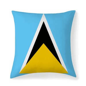 St.Lucia Flag Multisized Premium Microfiber Fabric Throw Square Pillow Covers High Elastic Polypropylene Cotton Insert