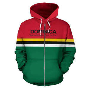 Dominica Pride All Over Zip-Up Hoodie - Island Pride Prints