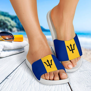 Barbados Flag Slide Sandals V2