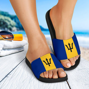 Barbados Flag Slide Sandals