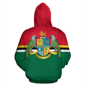 Dominica Pride All Over Hoodie V.1 - Island Pride Prints