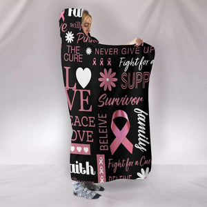 Breast Cancer Awareness Hooded Blanket - Island Pride Prints