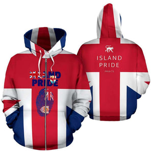 Anguilla All Over Zip-Up Hoodie - Island Pride Prints
