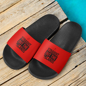 Straight Out The Islands Slide Sandals Red