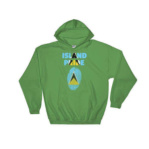 St.Lucia Hooded Sweatshirt - Island Pride Prints