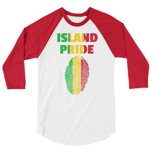 Ice Gold Green 3/4 sleeve shirt - Island Pride Prints