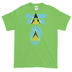 St.Lucia Pride Multi Color Short-Sleeve T-Shirt - Island Pride Prints