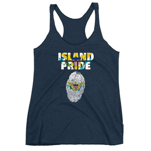 US Virgin Islands Women's Racerback Tank - Island Pride Prints