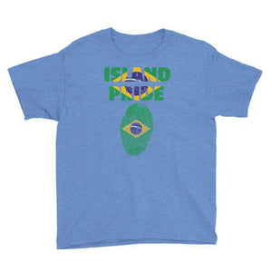 Brazil Pride Youth Short Sleeve T-Shirt - Island Pride Prints