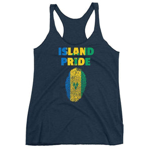 St. Vincent and the Grenadines Women's Racerback Tank - Island Pride Prints