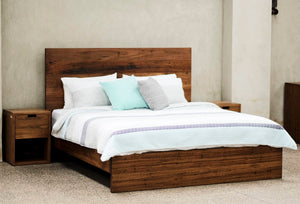 Classic King/Queen Size Bed - Recycled Stringy Bark & Hardwood
