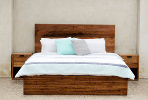 Classic Bed - Recycled Stringy Bark & Hardwood | Queen/King Size
