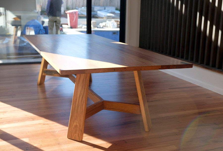 French Provincial Dining table | Recycled Hardwood