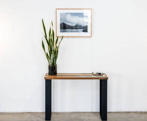 Hall Table | Scatter Style with Steel Box Ends