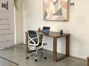 Recycled Stringy Bark Desk with Custom Japan Stain