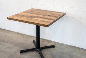 Cafe Table Top Scatter Style with Edge, Table - Recycled Timber Furniture