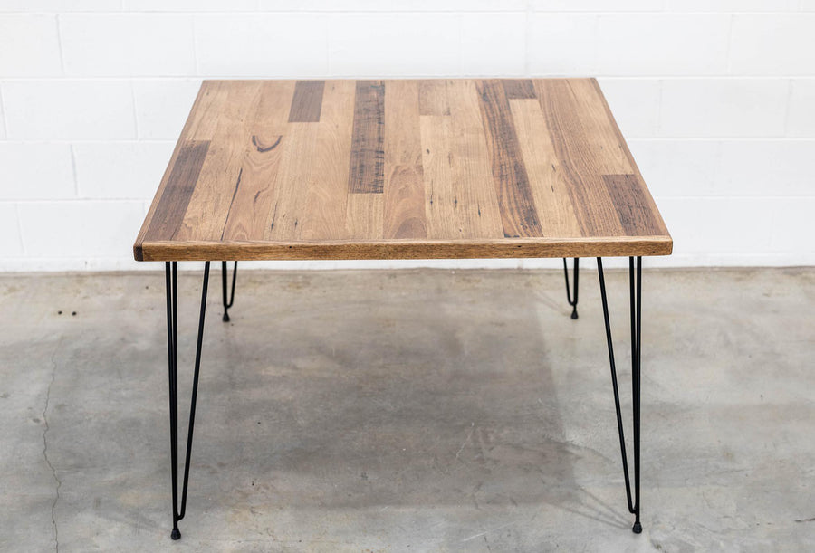 Appartment Size Table - Hairpin, Table - Recycled Timber Furniture