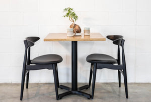Cafe Table Top Scatter Style Exposed Edge, Table - Recycled Timber Furniture