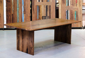 Slab End Style Table | Recycled Stringy Bark