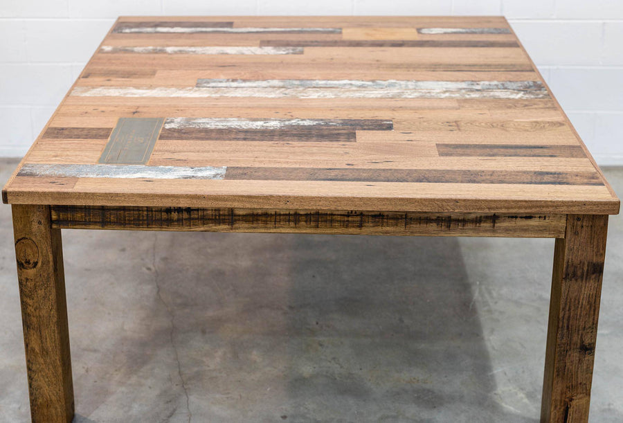 Square Dining Table | Scatter Style with Vintage Inlays