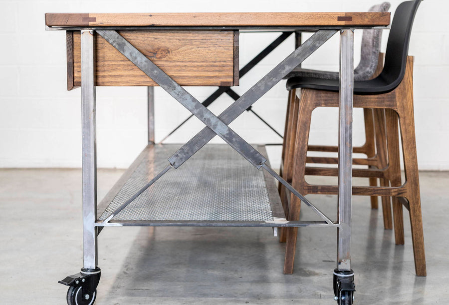 Kitchen Island Bench | Straight Board Stringy Bark