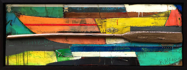 "Fragments of a Journey 7/ 28"" x 72"" / Mixed Media on Baltic Birch"