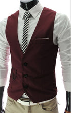 Load image into Gallery viewer, 2019 New Arrival Dress Vests For Men Slim Fit Mens Suit Vest Male Waistcoat Gilet Homme Casual Sleeveless Formal Business Jacket