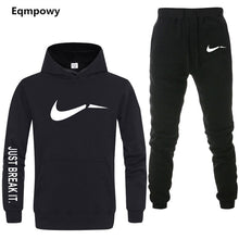Load image into Gallery viewer, Men's Tracksuit 2 sets of new fashion jacket sportswear men's sweatpants hoodies spring and autumn men's brand hoodies pants