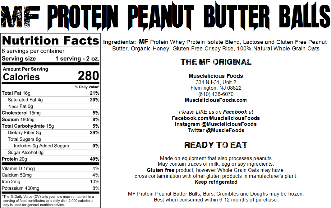 The ORIGINAL MF Protein Peanut Butter Balls