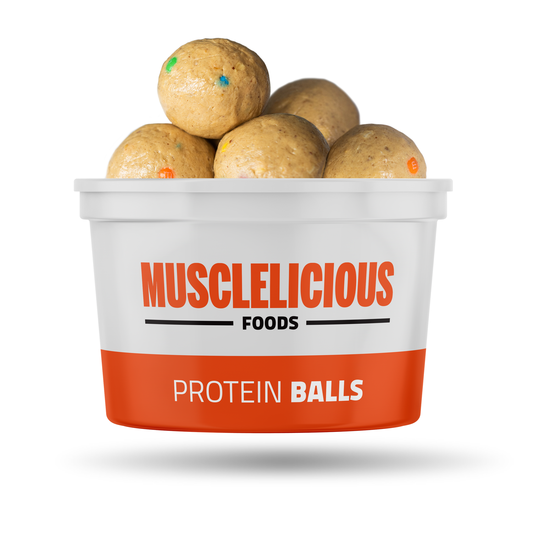 Mini M+M filled Protein Peanut Butter Balls