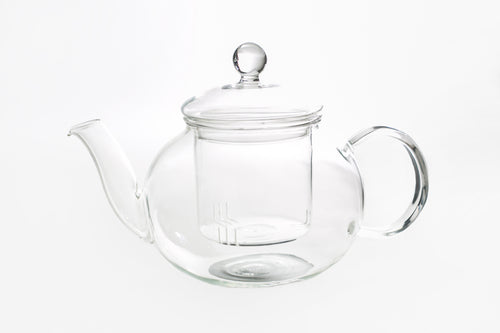 Glass teapot with glass filter