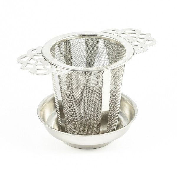 One cup loose leaf infuser with lid/drip tray