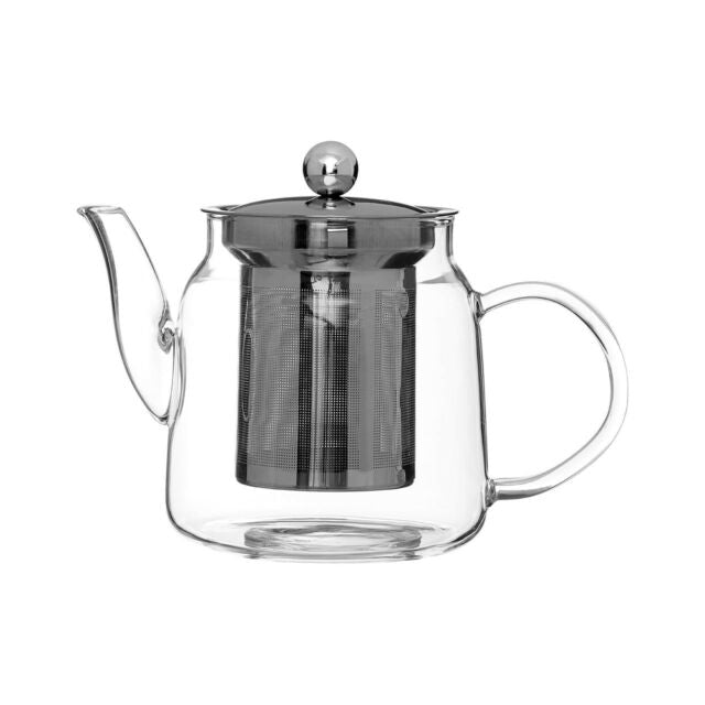 Glass Teapot with metal strainer