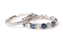 Load image into Gallery viewer, diamond sapphire eternity band
