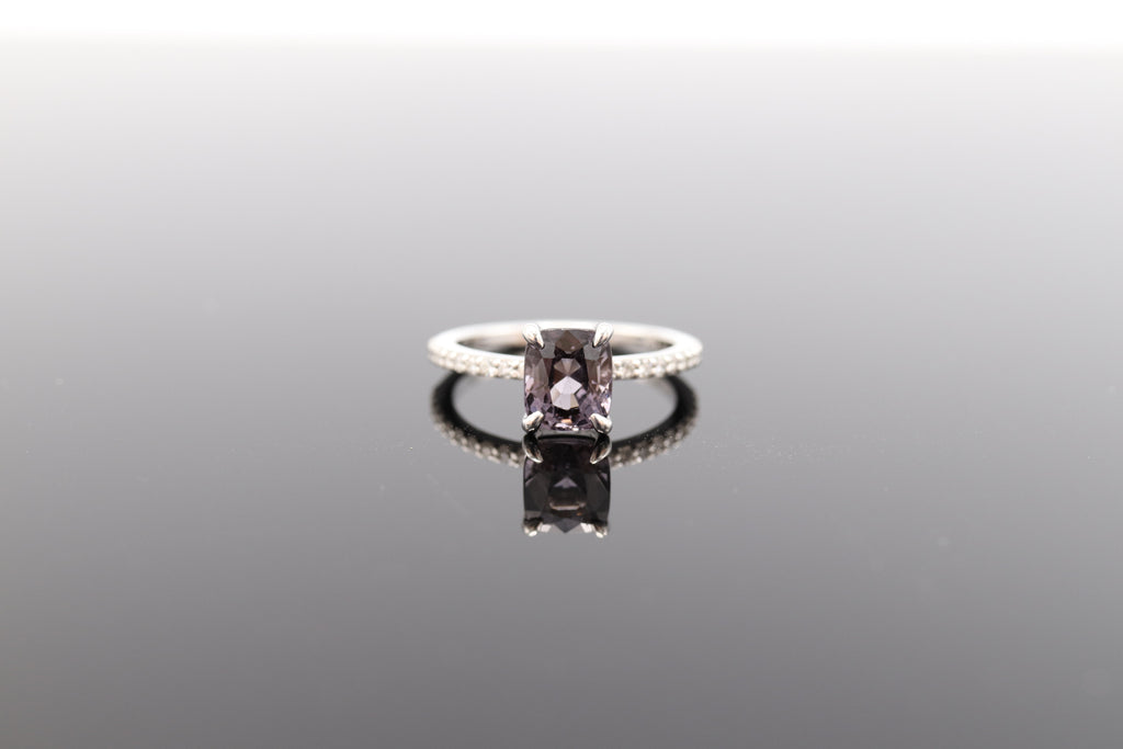 Lavender Spinel Solitaire Ring