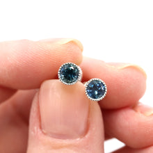 Load image into Gallery viewer, sapphire stud earrings