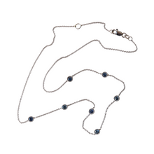 Load image into Gallery viewer, Montana sapphire milgrain bezel necklace