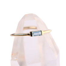 Load image into Gallery viewer, aquamarine baguette stacking ring