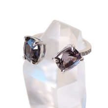 "Load image into Gallery viewer, Lavender Spinel ""Duolitaire"" Ring"